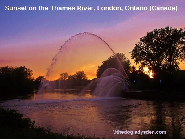Sunset on the Thames River | #TopTenThursday #Blogfest