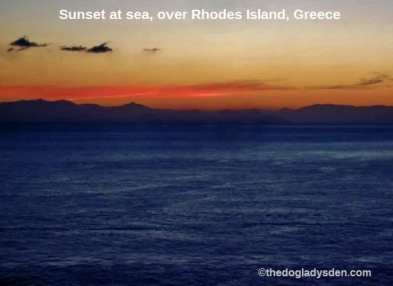 Sunset over Rhodes | #TopTenThursday #Blogfest