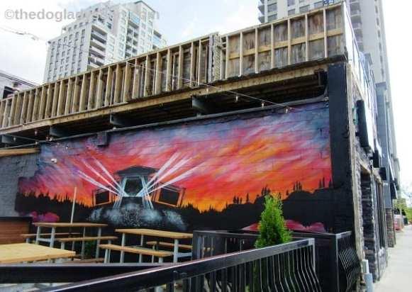 Colourful wall mural, London, Ontario