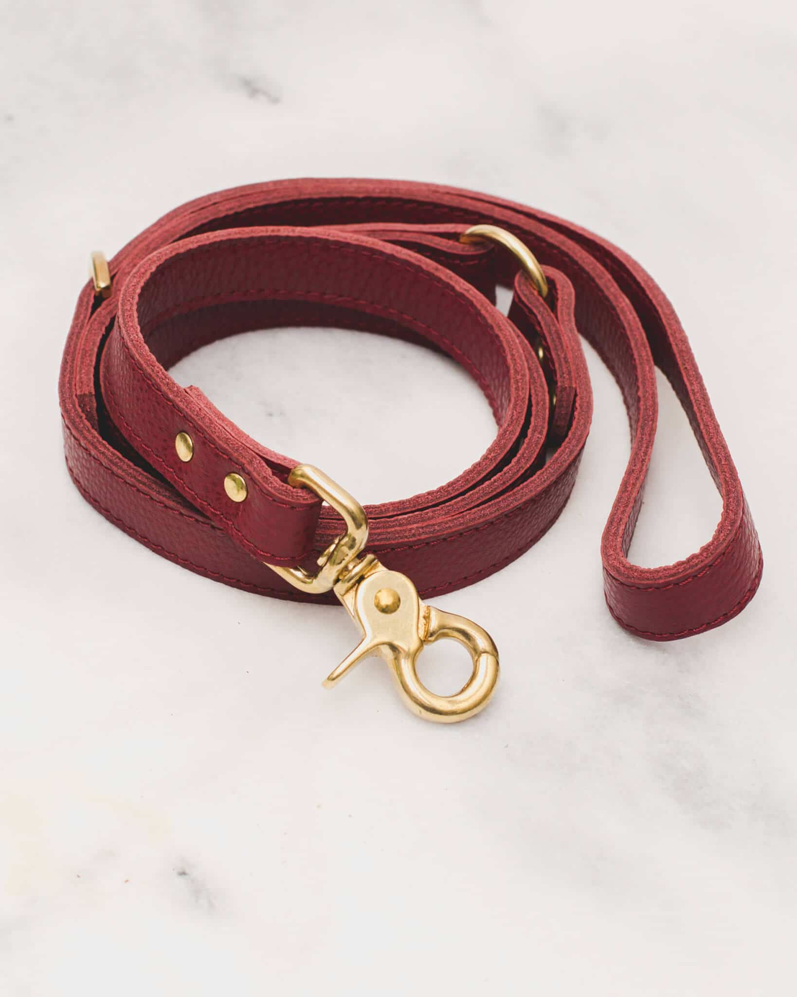 Classic Leash Burgundy 2.0