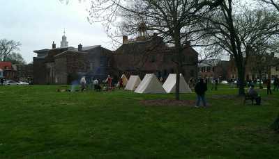 The 1st Regiment encampment.