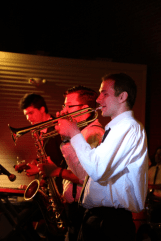 The horn section from The York Street Hustle keep it rocking.