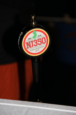 Flying Fish's NJ350, an English stock ale brewed for the 350th anniversary of the state of New Jersey. Loaded with American hops!