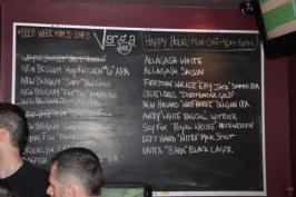 The Varga Bar Tap List. Look at all that New Belgium.
