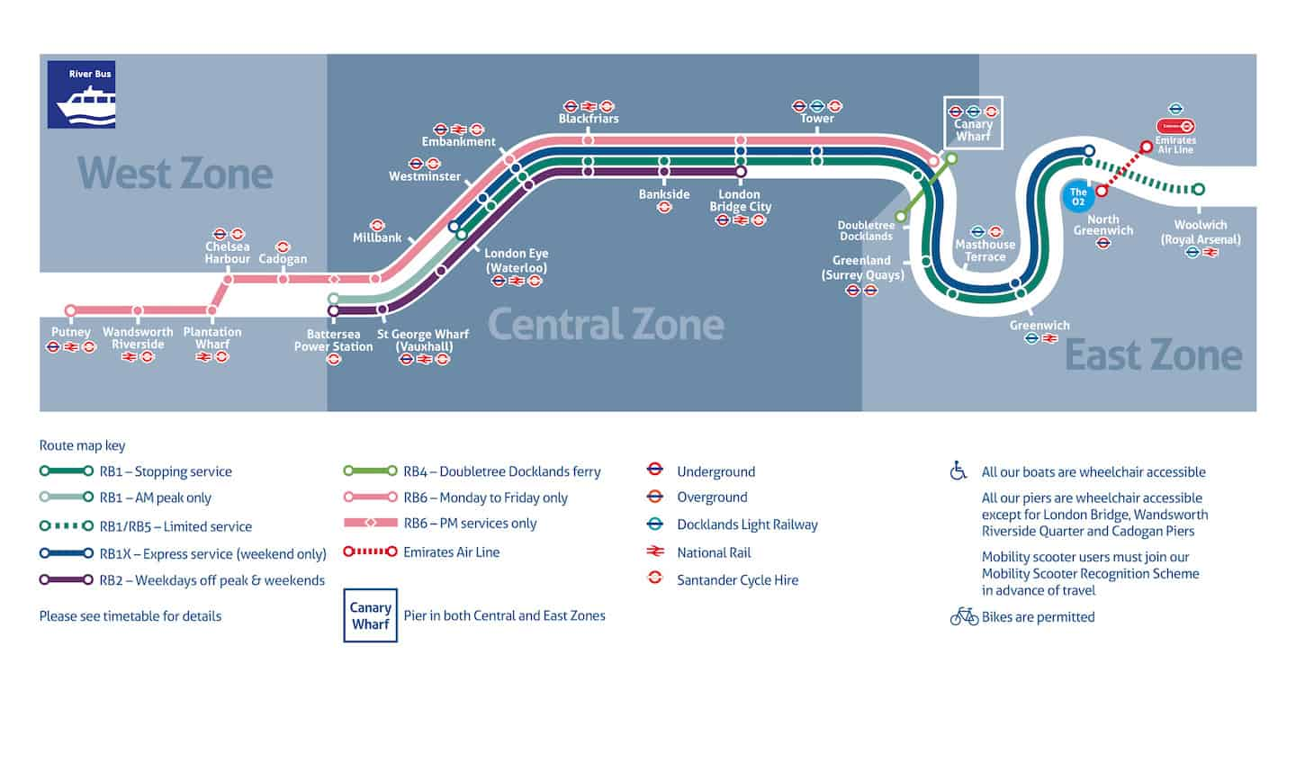 How To Get Around London With A Dog On The River Bus - London River Bus Map