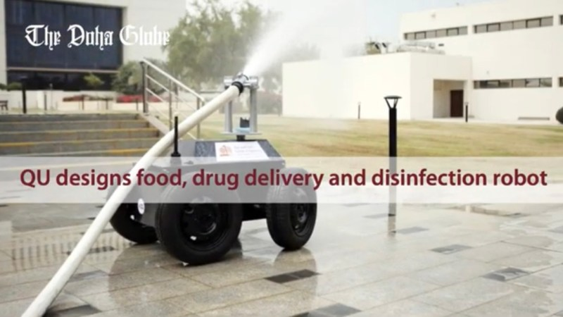 QU designs food, drug delivery and disinfection robot