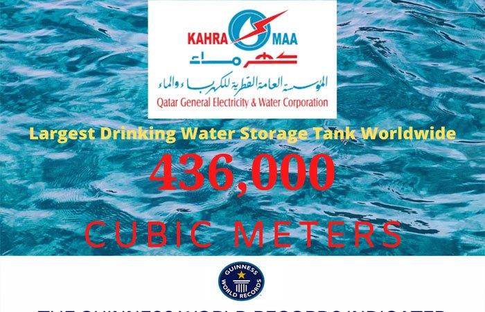 Largest drinking water storage tank worldwide
