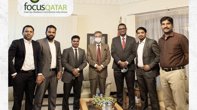 focusQATAR officials meet Indian ambassador
