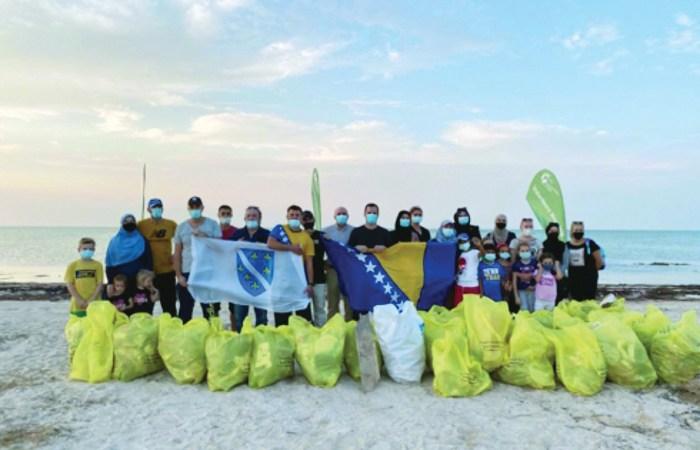 Bosnia and Herzegovina community members clean up beach