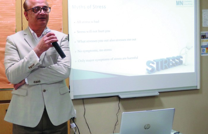 PAS organises session on stress management