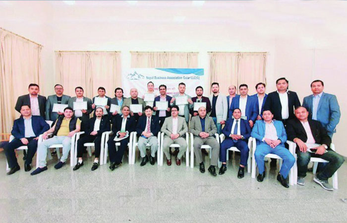 Nepal Business Association Qatar greets Nepalese expatriates on New Year