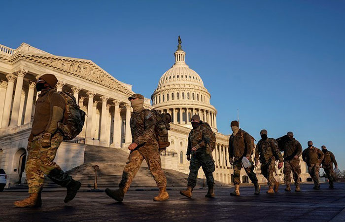 US military, FBI vet National Guard troops on security duty for Biden inauguration