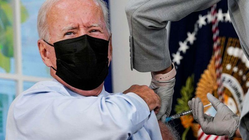 Biden receives Covid-19 booster shot