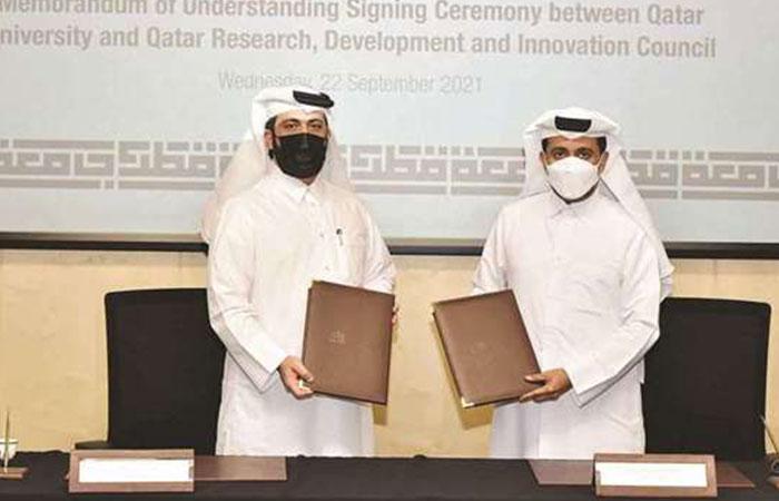 Qatar University, QRDI sign MoU to enhance cooperation