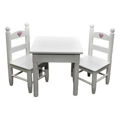 American Girl Doll Chairs Wingback Tufted Chair Furniture White Table Set The Boutique