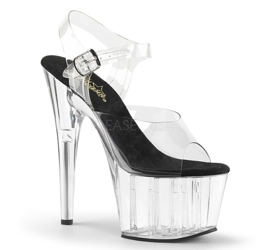 Clear heels for pole dancing