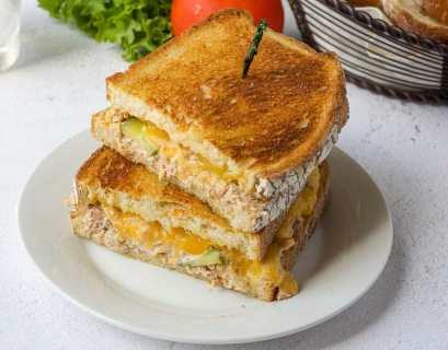 kid friendly tuna melt sandwich