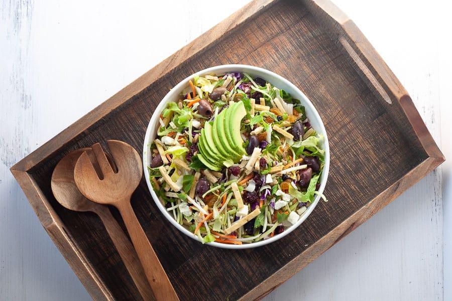 bowl of salad for mediterranean diet recipe idea