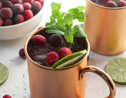 cranberry Moscow Mule mocktail recipe