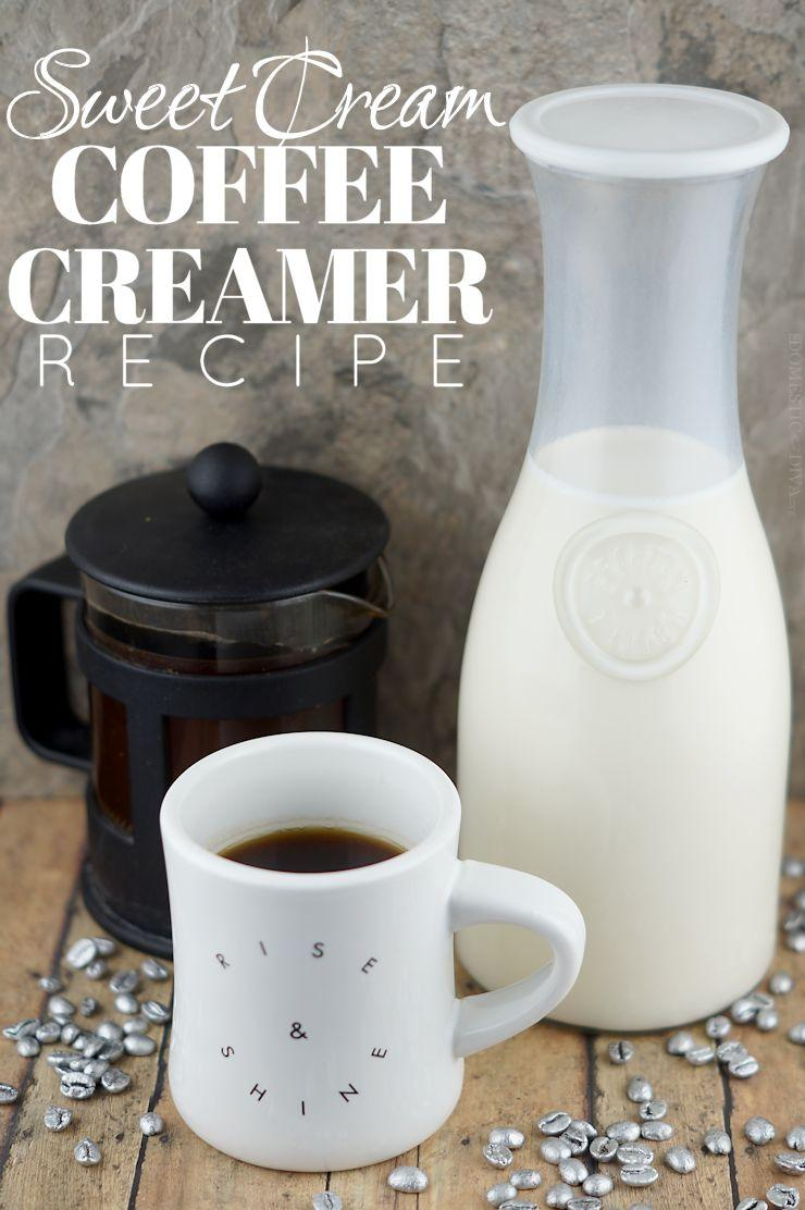 How to make Homemade Sweet Cream Coffee Creamer (recipe)
