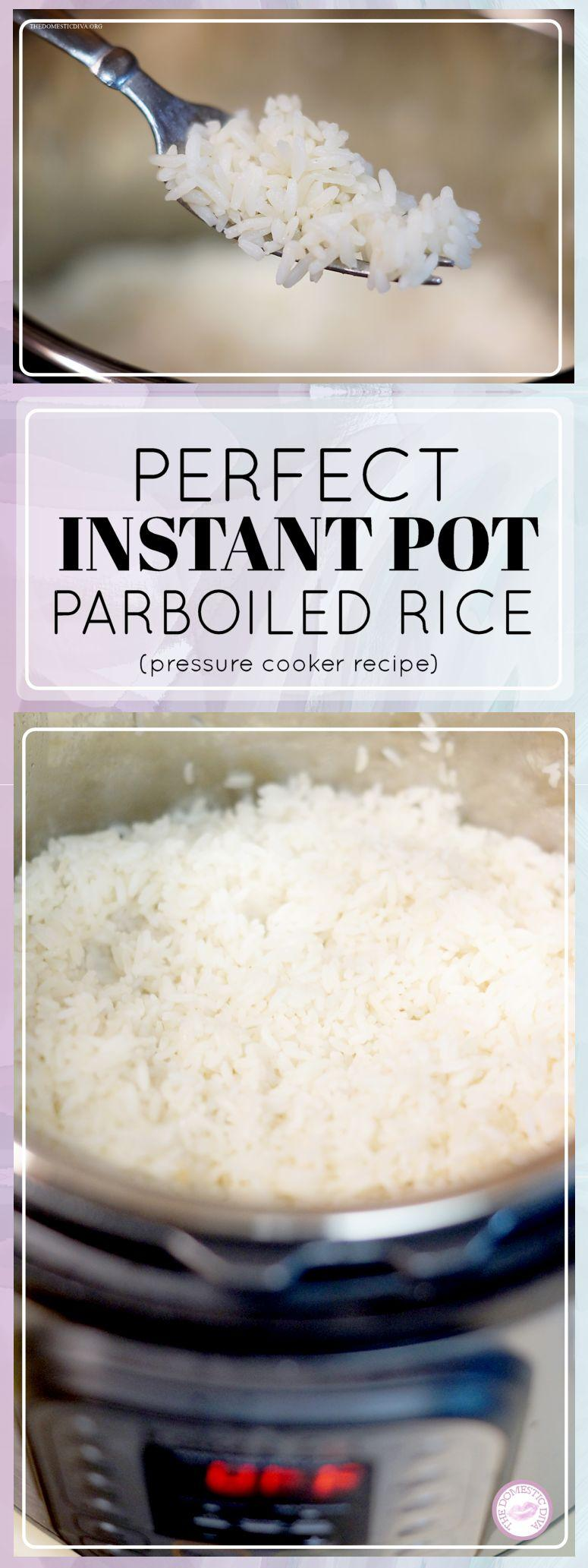 How to make perfect parboiled rice in an Instant Pot (pressure cooker recipe)