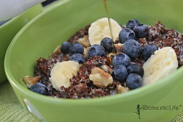 breakfast quinoa with maple