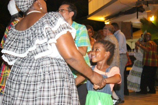 girl dancing with St. Croix local