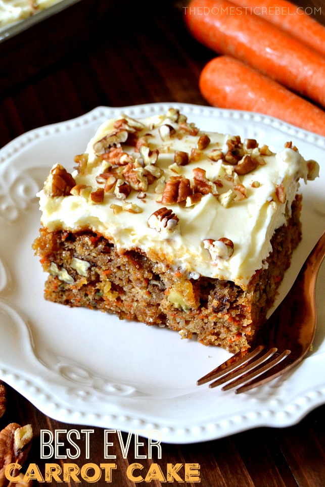 The Best Ever Carrot Cake With Cream Cheese Frosting The