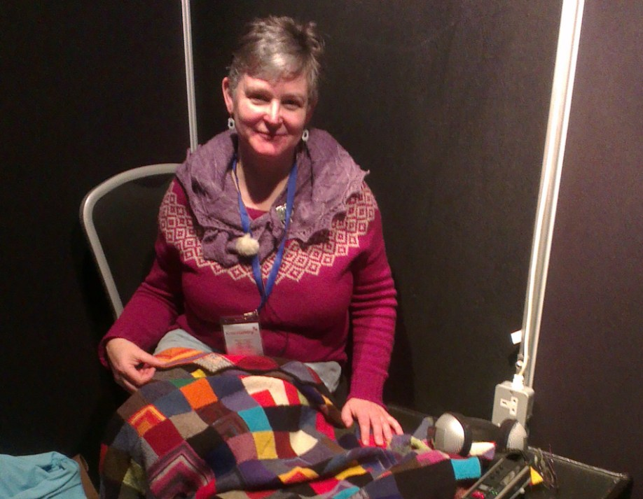 Cathy Scott and her amazing blanket