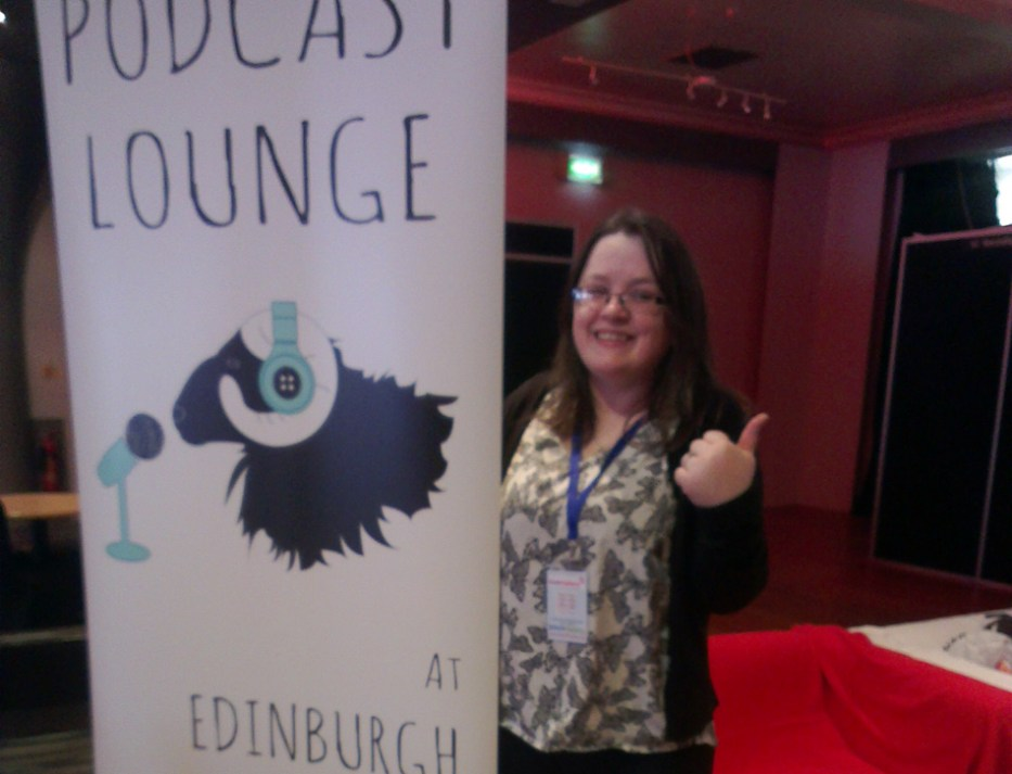 The Podcast Lounge at Edinburgh Yarn Festival! Run by Knit British AKA Louise Scollay