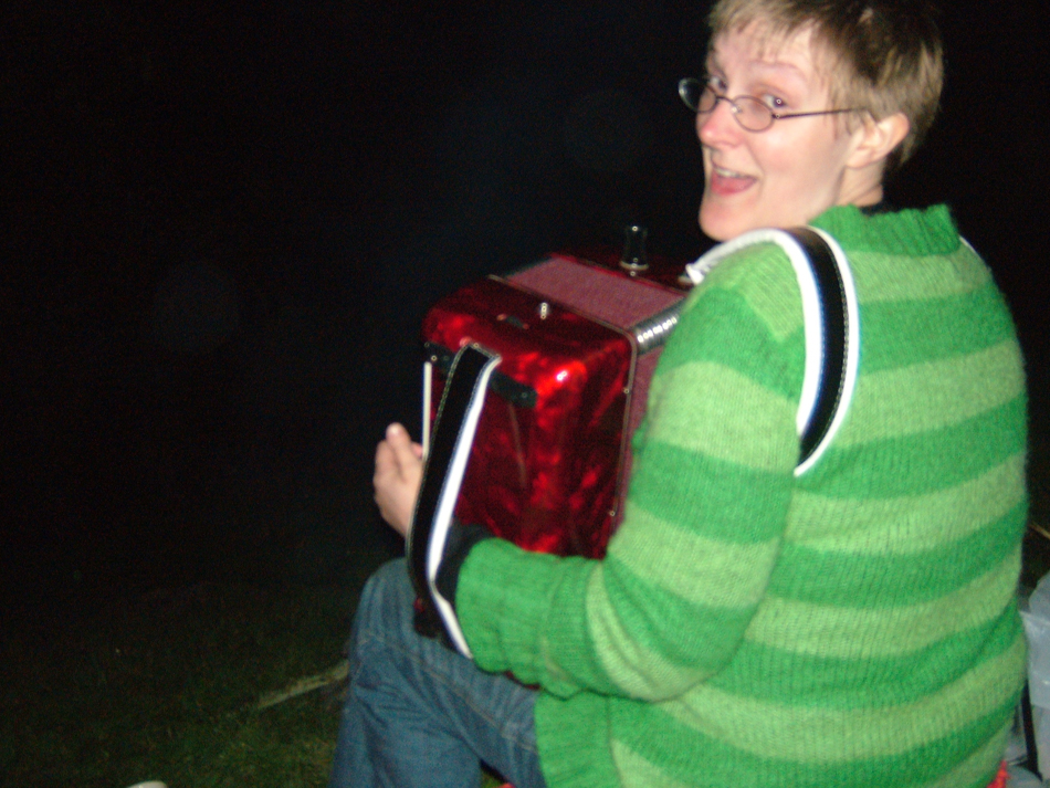 playing Firestarter on Accordion, 2006