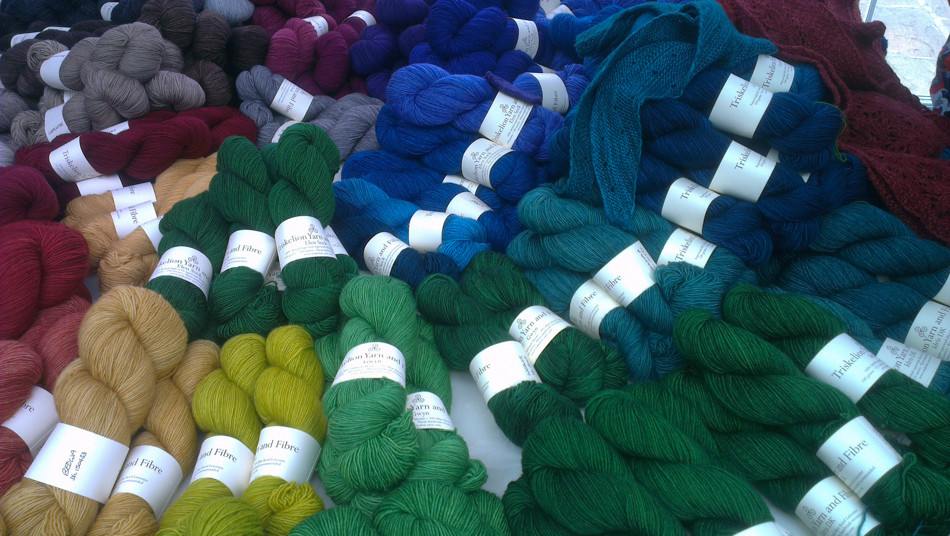 Triskelion yarn at the perfect tiny marketplace!