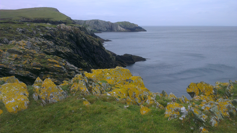 Cliffs on the headland further down from Banna Minn beach