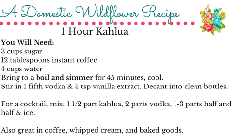 1 Hour Homemade Kahlua: Perfect for Gifting! | A Domestic Wildflower click through for the super simple recipe, printable recipe card, and sources for bottles for giving as gifts!