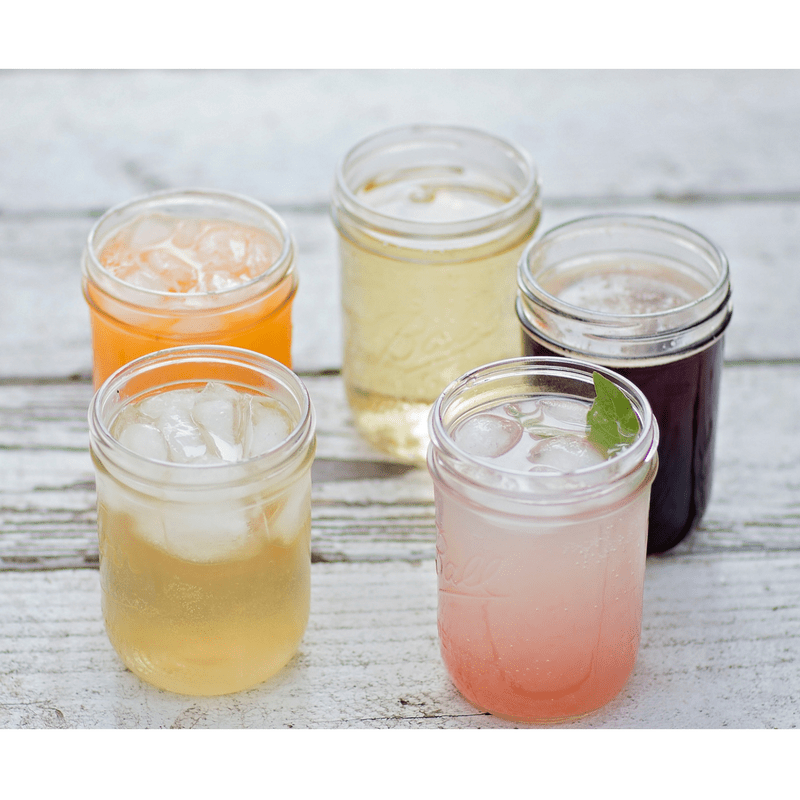 Beautiful drinks Tower of canning jars from the Best Canning Jars post
