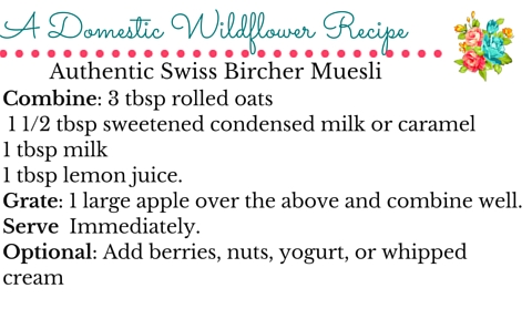 Swiss Muesli: A Fast, Healthy, and Authentic Breakfast | A Domestic Wildflower click to get the recipe that is miles better than store bought! This post also shares the recipe on super cute printable recipe cards.