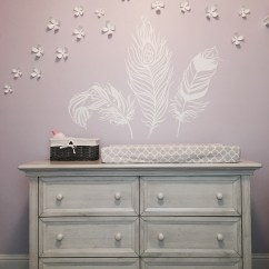 Mia Moda High Chair Pink Tennis Court Umpire Chairs Baby S Walk In A Field Of Flowers And Feathers Ideas For Evolur Napoli Dresser Ashley Nursery