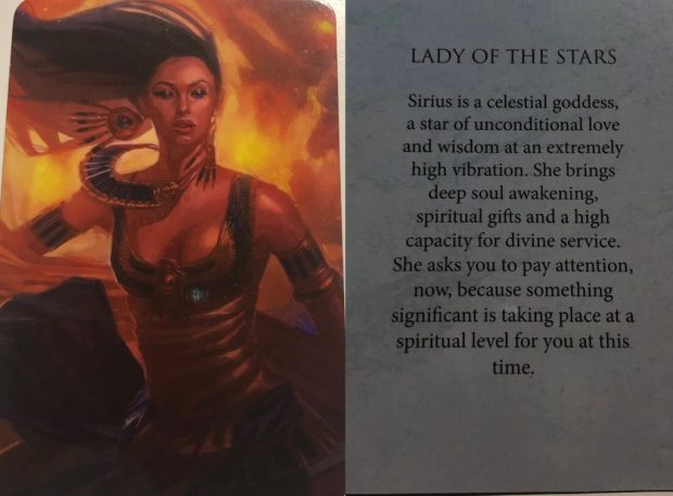 Lady of the Stars Oracle Card