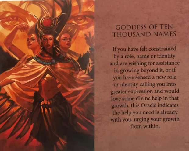 Goddess of Ten Thousand Names Oracle Card - tarotscope