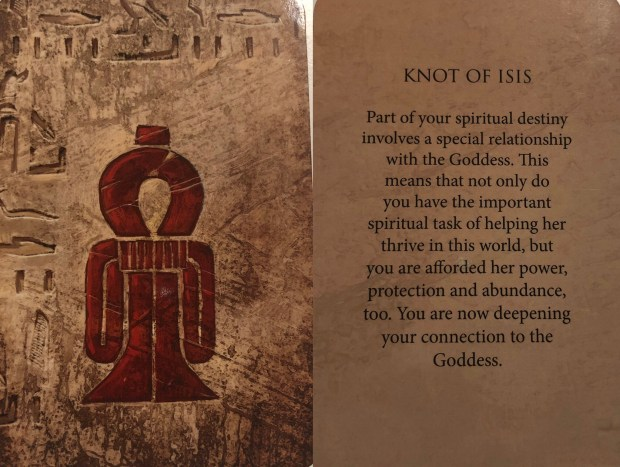 Knot of Isis Oracle Card