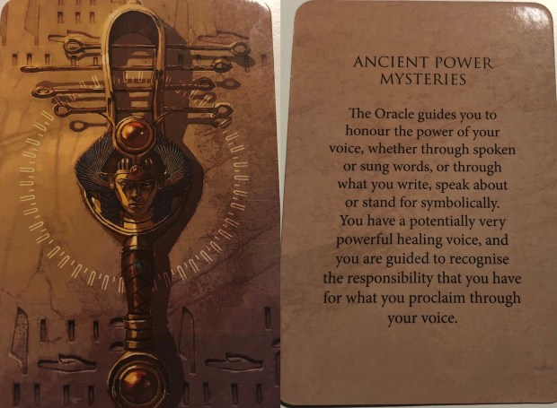 Ancient Power Mysteries Oracle Card