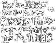 Free Positive Quote Colouring Sheets