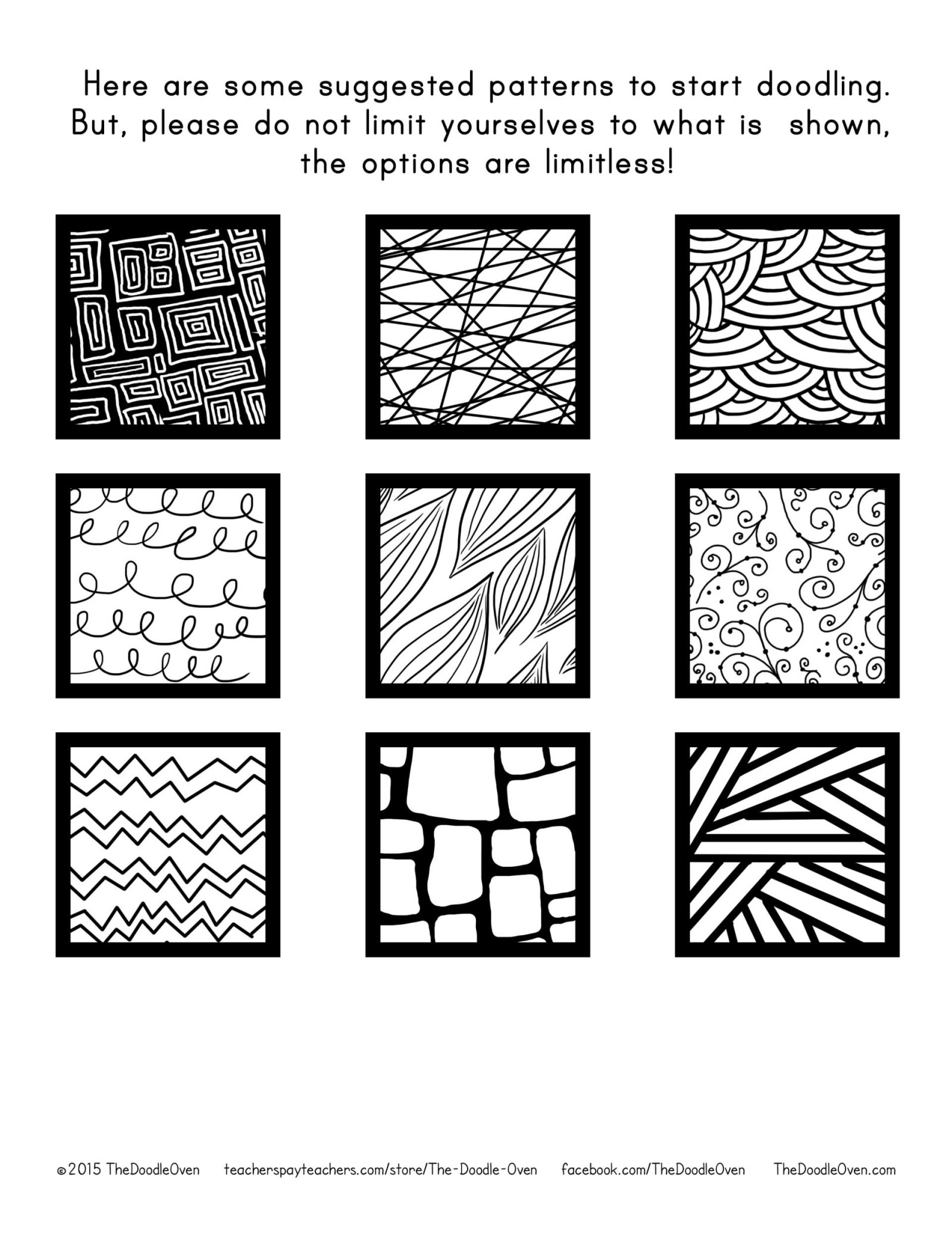 Zentangle Pattern suggestions 2015 The Doodle Oven