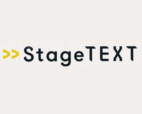 The logo for Stage Text