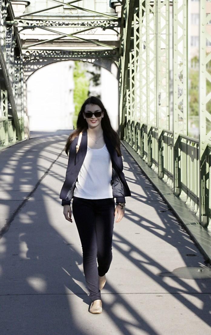 Girl walks
