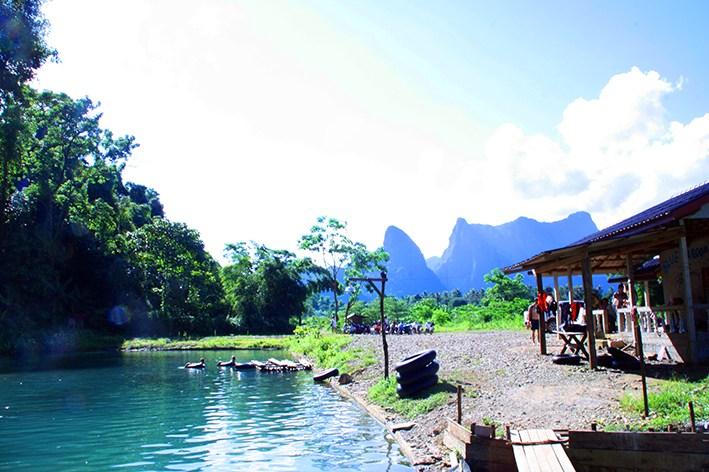 BLue Lagoon von Vang Vieng