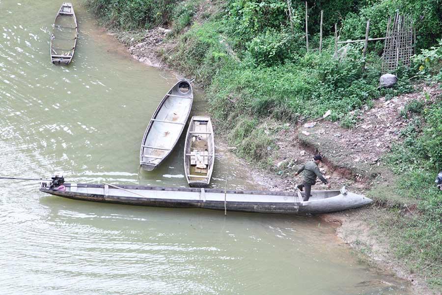 Bomben-Boot Laos