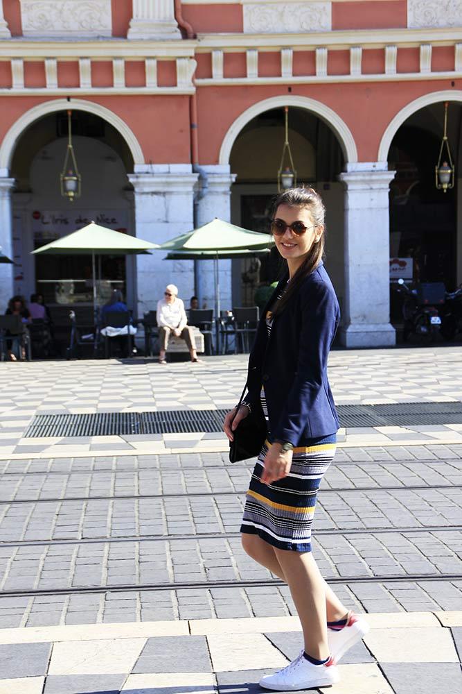 Blazer H&M Streifenkleid Nizza