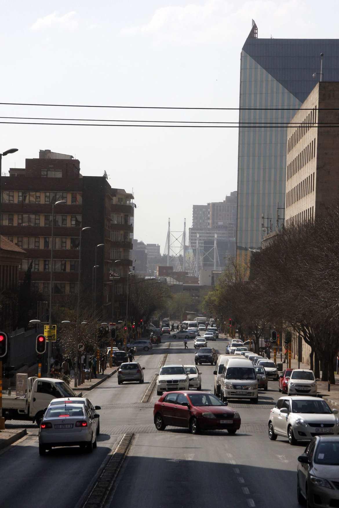 Straßenleben in Johannesburg