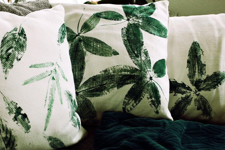 Drei Designs beim DIY Kissenbezug bedrucken
